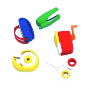 Stationery Set In Bag - 3d Novelty Erasers Rubbers - Set of 5 Pieces